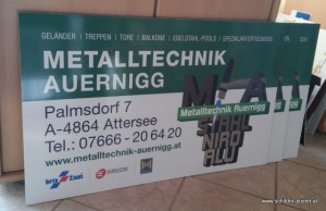 Metall Technik Schilder Gross