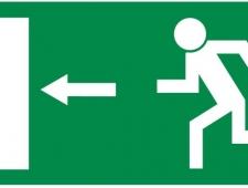 Rettungsschild Fluchtweg links