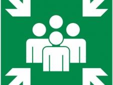 Sammelplatz - Rettungsschild