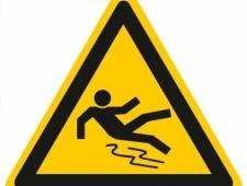 Warnschild Warnung vor Rutschgefahr