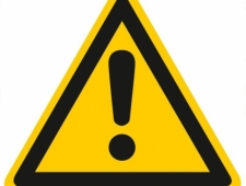 Warnschild Warnung vor einer Gefahrenstelle