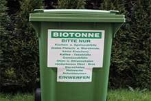 Mülltonnenaufkleber, mülltonnen beschriftung, Aufkleber Bioabfuhrplan